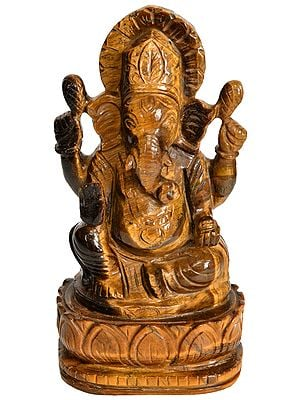 Lord Ganesha (Carved in Tiger Eye)