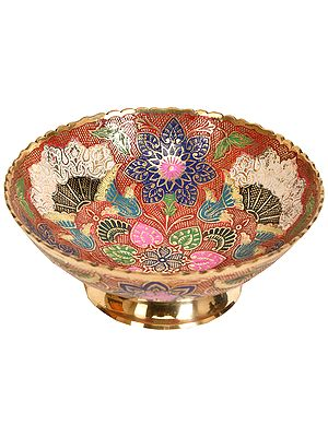 Fruit Bowl Decorated with Floral Motifs