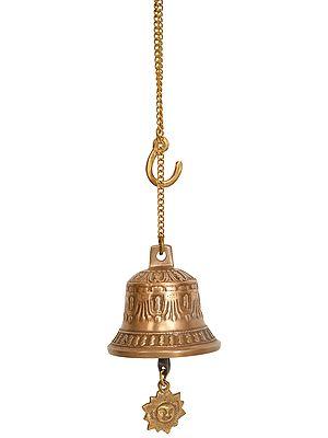 Tibetan Buddhist Temple Bell with Surya Clapper