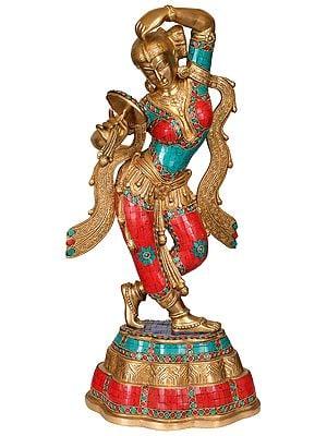 The Apsara Applying Vermillion (A Statue Inspired by Khajuraho)