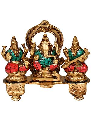 The Great Trinity - Lakshmi, Ganesha and Saraswati