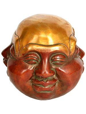 Four Faces of Laughing Buddha (Smiling, Laughing,  Angry and Sad)