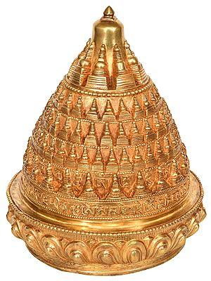 108 Stupas with Syllable Mantra (Tibetan Buddhist)