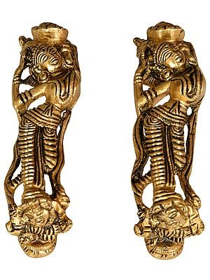 Nymph Door Handles (Sculptures Inspired by Khajuraho idiom)
