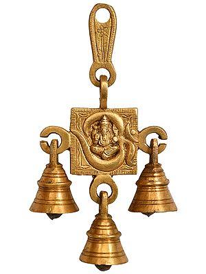OM (AUM) Ganesha Wall Hanging Bells