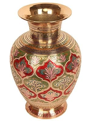 Decorated Flower Vase