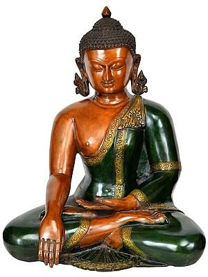 Lord Buddha in Bhumisparsha Mudra (Earth Touching Gesture)