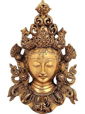 Golden Devi Tara Wall-Hanging Mask