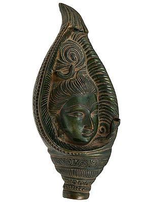 Lord Shiva in Conch - Wall Hanging