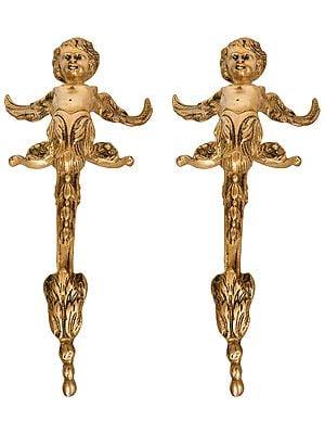 Angel Door Handles (Pair of Two Statues)