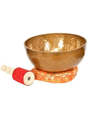 Five Dhyani Buddhas Singing Bowl (Tibetan Buddhist)