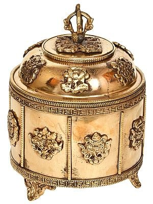 Tibetan Buddhist Ashtamangala Ritual Box
