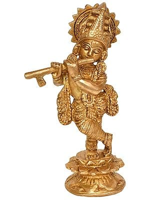 Lord Krishna Playing Flute (Small Statue)
