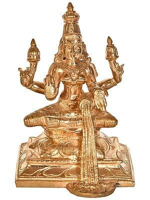Goddess Lakshmi with Raining Coins