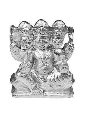 Six-Headed Karttikeya (Carved in Parad)