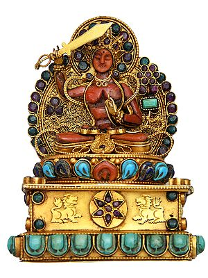 Manjushri (Bodhisattva of Transcendent Wisdom) - Made in Nepal