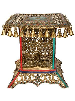 Decorated Lattice Chowki (Pedestal)