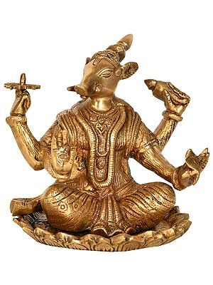 Seated Varaha