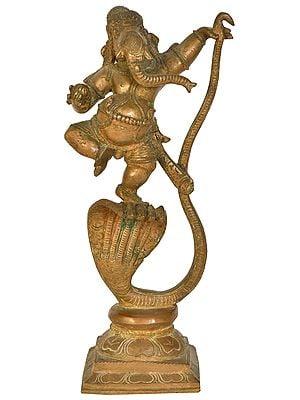 Ganesha Dancing on Serpent