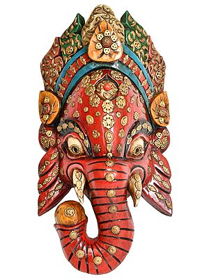 Lord Ganesha Nepalese Wall Hanging Mask