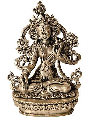 Tibetan Buddhist Goddess Seven Eyed White Tara (Made in Nepal)