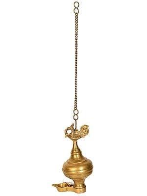 Peacock Oil Lamp