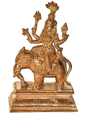 Goddess Lakshmi Seated on an Elephant (From South India)