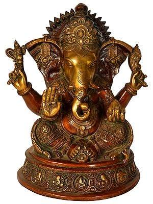 Blessing Ganesha Eating Modaka
