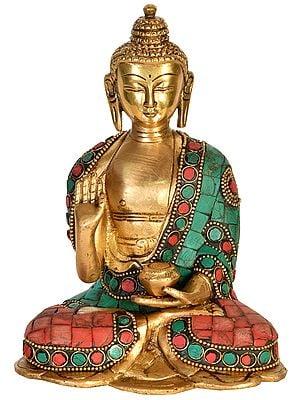 Tibetan Buddhist Deity Buddha Granting Abhaya
