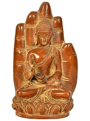 Lord Buddha Emerging From The Hand Of Blessing