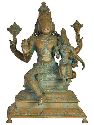 Lord Hayagriva with Goddess Lakshmi