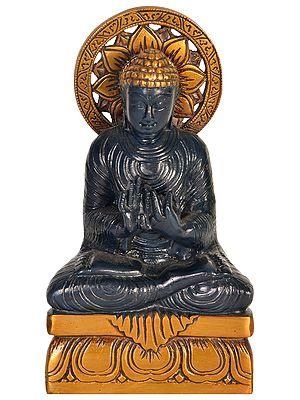 Tibetan Buddhist Deity Buddha in Dharmachakra Mudra