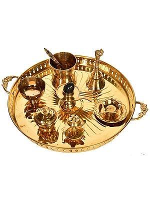 Complete Puja Thali Set for Worshipping Shiva Linga