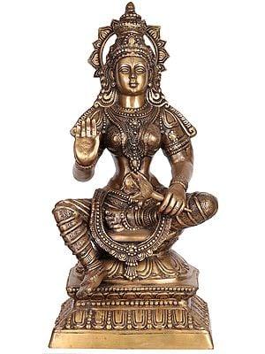 Large Size Goddess Lakshmi Holding A Lotus