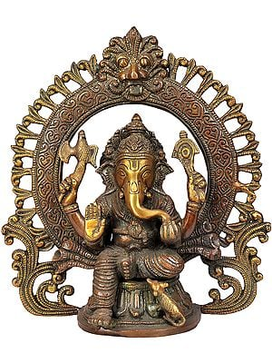 Lord Ganesha with Prabhavali