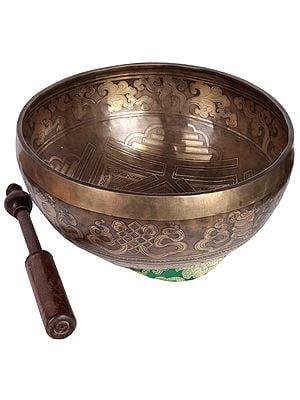Tibetan Buddhist Superfine Mandala Singing Bowl (Made in Nepal)