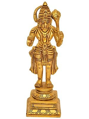 Blessing Hanuman with Gada
