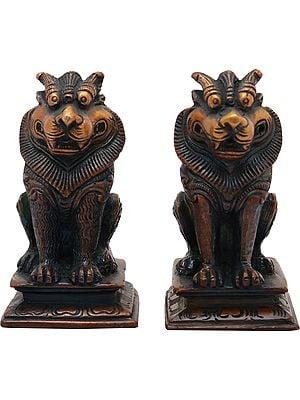 Pair of Yali (Temple Guardians)