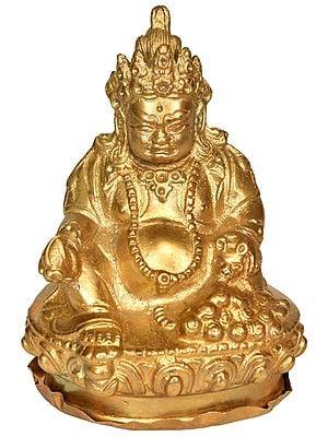 Tibetan Buddhist Deity Kubera - Small Statue