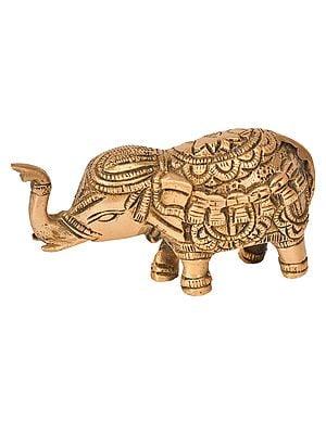 Elephant with Upraised Trunk (for Vastu)