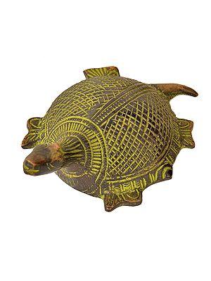 Vastu Tortoise with Yantra Underneath (Small Statue)