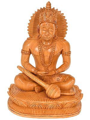 Lord Hanuman In Dhyana Mudra