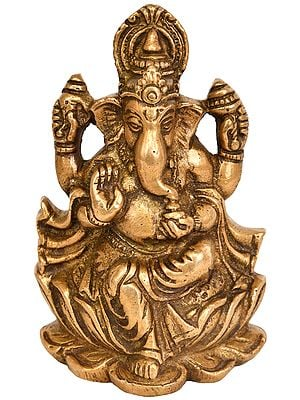 Lord Ganesha Seated on Lotus
