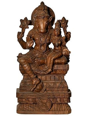Large Size Lord Hayagriva with Goddess Lakshmi