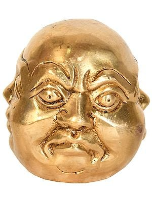 Four Faced Head of Laughing Buddha (Tibetan Buddhist)