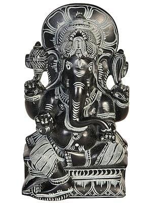 Ganesha Seated on Lotus Pedestal