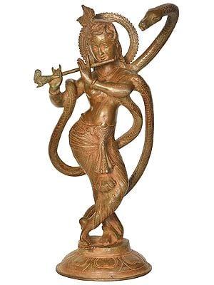 Krishna with Kaliya