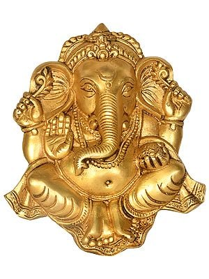 Blessing Ganesha Wall Hanging - Flat Statue