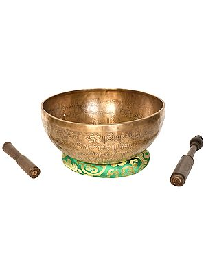 Vishva-Vajra Tibetan Buddhist Singing Bowl (Made in Nepal)