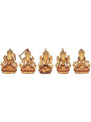 Set of Five Bodhisattva Deities